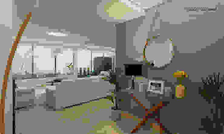 Modern Corridor, Hallway and Staircase by Citlali Villarreal Interiorismo & Diseño Modern