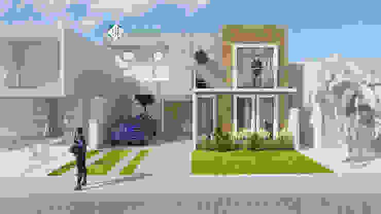 現代房屋設計點子、靈感 & 圖片 根據 ISLAS & SERRANO ARQUITECTOS 現代風