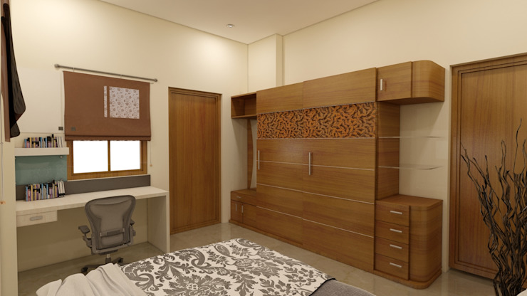 GUEST BEDROOM WARDROBE Modern style bedroom by BENCHMARK DESIGNS Modern Wood Wood effect