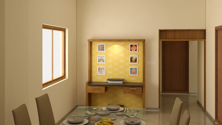 POOJA UNIT Modern dining room by BENCHMARK DESIGNS Modern Wood Wood effect