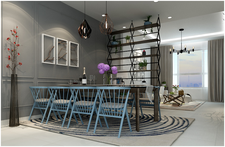 Dining Room:  Phòng ăn by Công ty TNHH TMDV Decor KT
