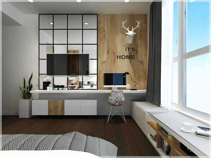 Bedroom Phòng ngủ phong cách châu Á bởi Công ty TNHH TMDV Decor KT Châu Á