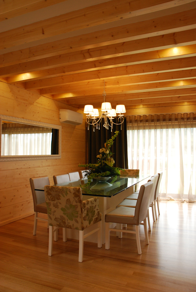 Ruang Makan Modern Oleh Rusticasa Modern Kayu Wood effect