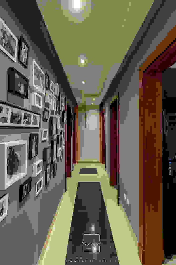 Mr.H.B. FLAT INTERIOR DESIGN ,MADINATY RayDesigns Modern corridor, hallway & stairs