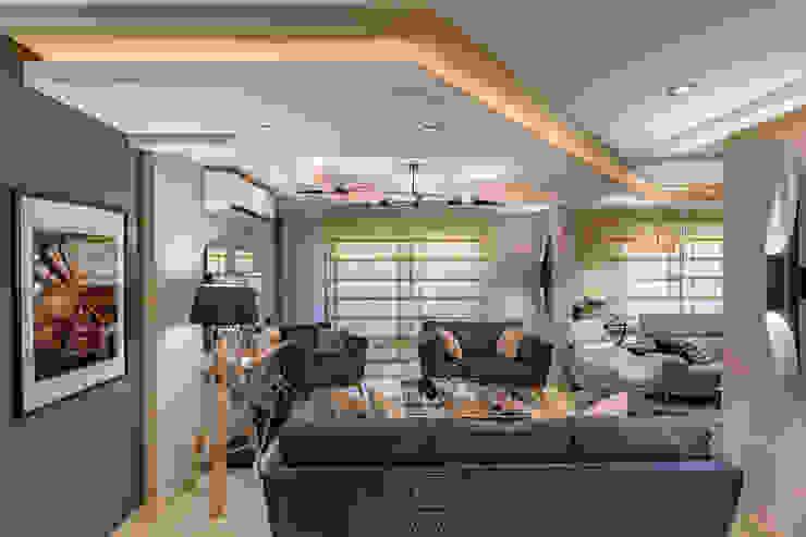 reception by raydesigns RayDesigns Modern living room