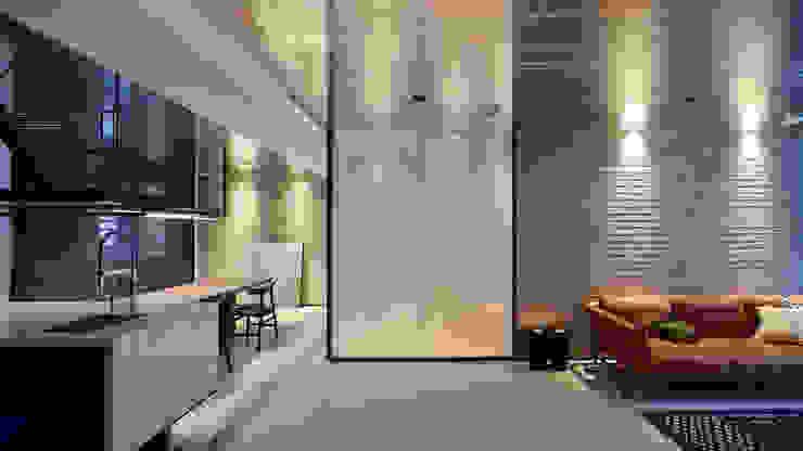 Ru Residence 现代客厅設計點子、靈感 & 圖片 根據 沈志忠聯合設計 現代風