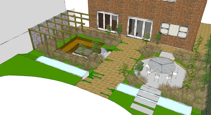 St John's Close Country style garden by Aralia Country Bricks