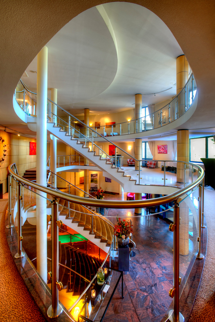 Hilton Soestduinen Trappenhuis Moderne hotels van Loek van Walsem Fotografie Modern