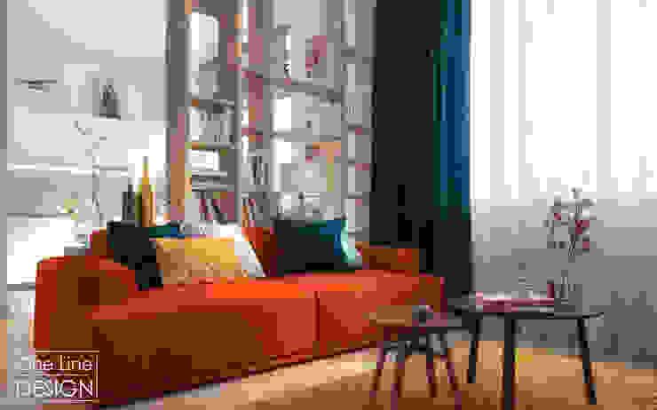 One Line Design Salones de estilo escandinavo
