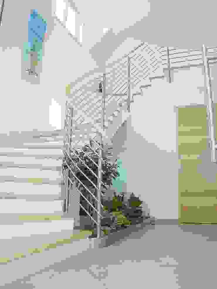 Ing. Christian Weißmann Ges.m.b.H. Pasillos, vestíbulos y escaleras de estilo moderno Madera Acabado en madera