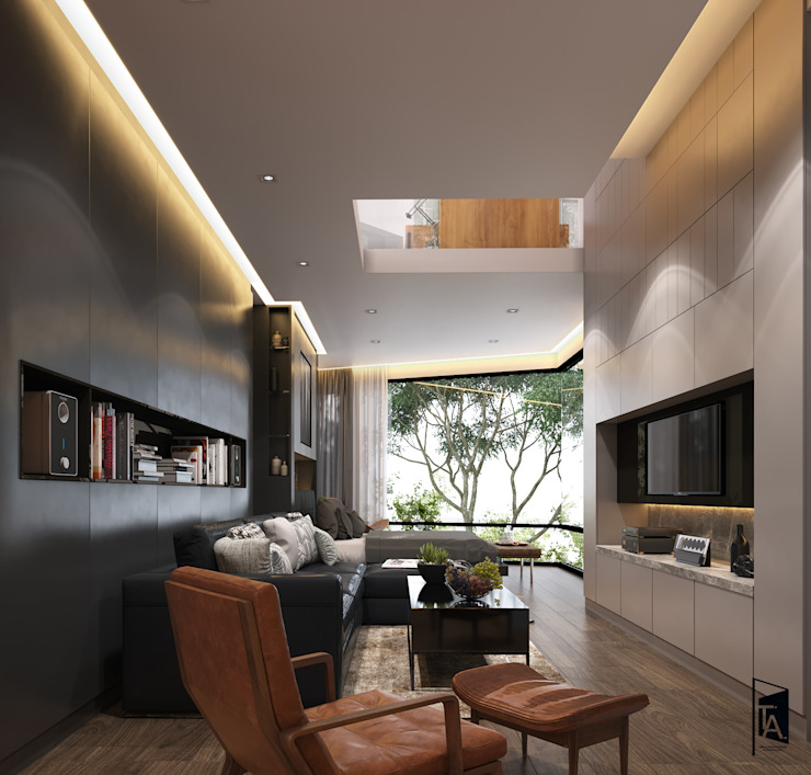 Interior design - Sindhvananda Residence:   by Time & Architecture design studio - T.A.