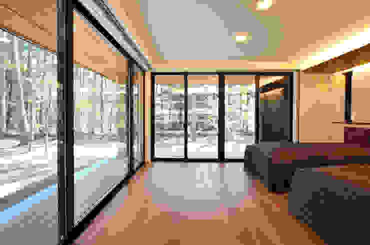 精進場川の家 モダンスタイルの 温室 の 鎌田建築設計室 モダン