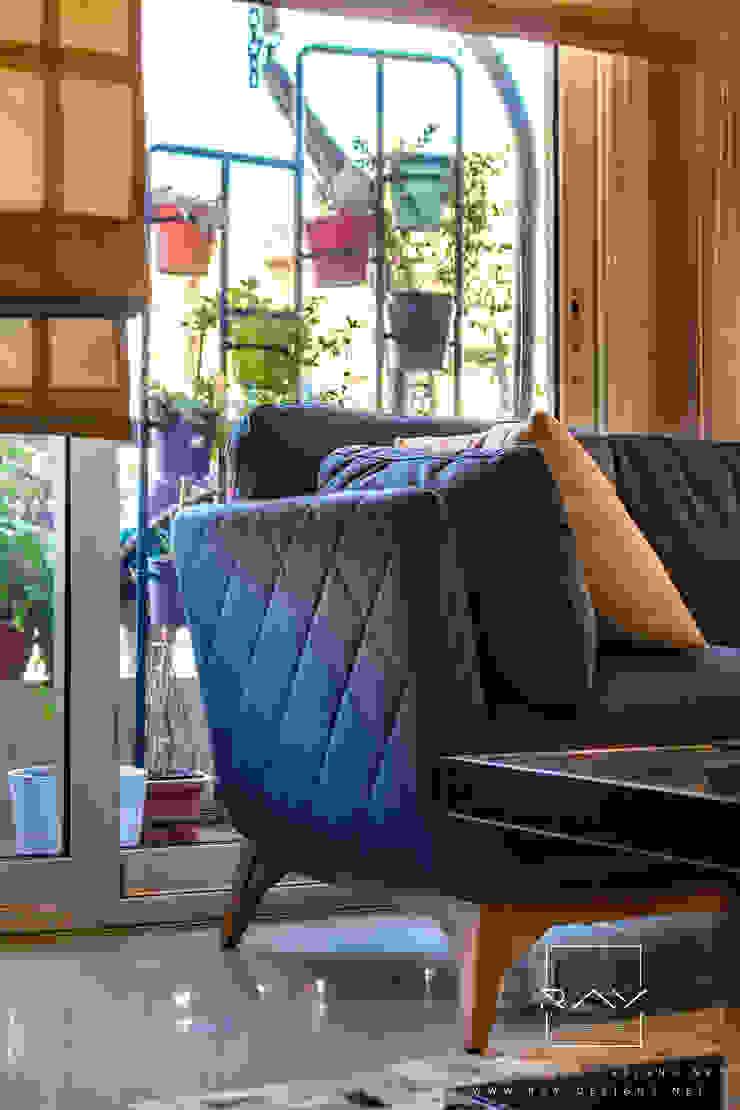 fabrics combination close up RayDesigns Modern living room