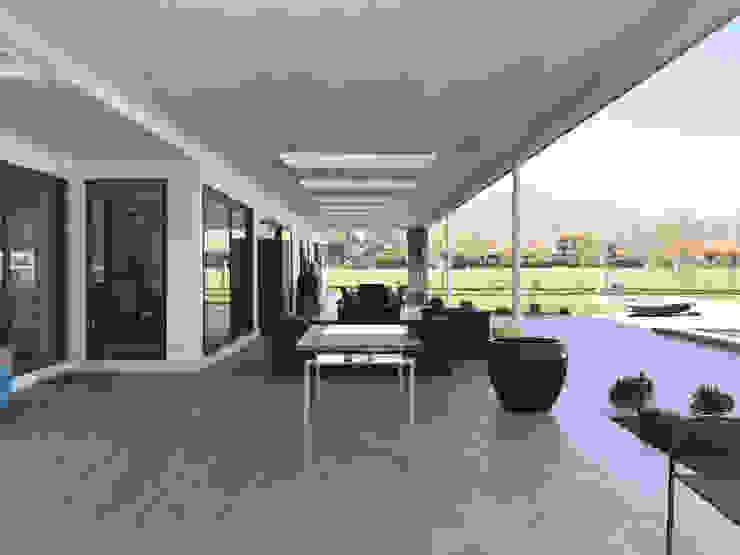 Casa El Golf AtelierStudio Balcones y terrazas modernos