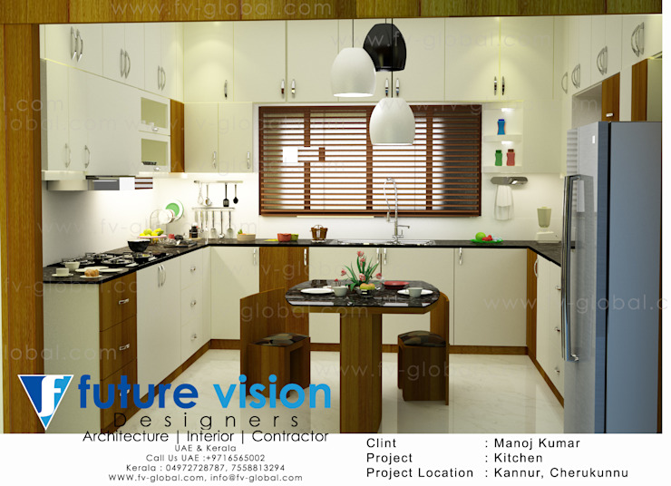kitchen 3d view by shabin