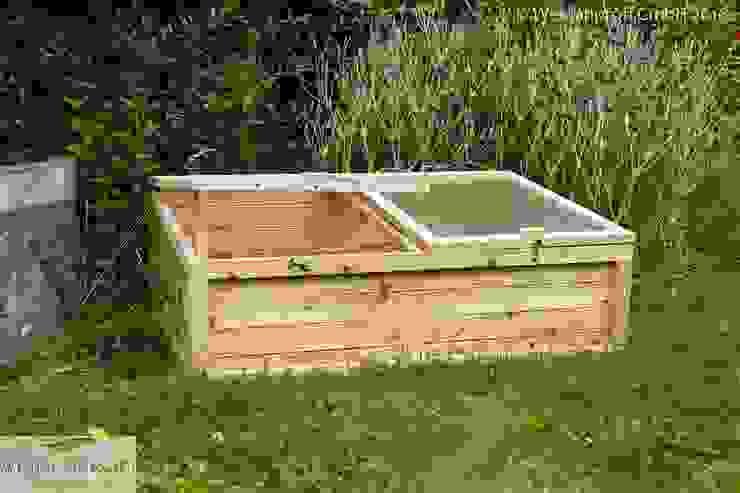 Frühbeet aus Lärchenholz naturgeflechte24 Moderner Garten Holz