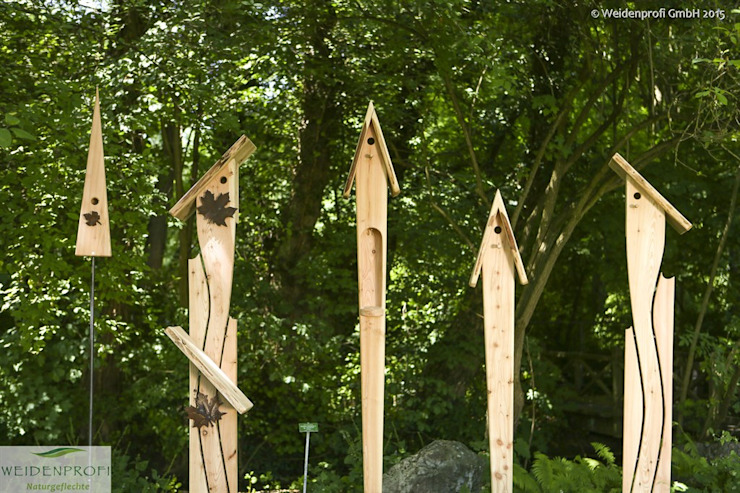 Exklusive Nistkästen, Gartenskulpturen aus Lärchenholz naturgeflechte24 Ausgefallener Garten Holz