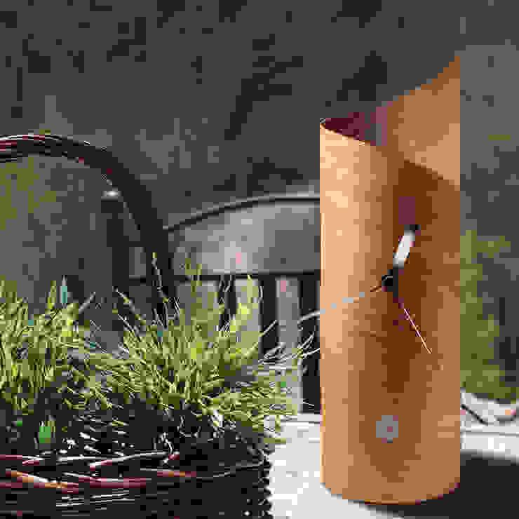 Tothora Surf Clock - Cedar: modern  by Just For Clocks,Modern Wood Wood effect