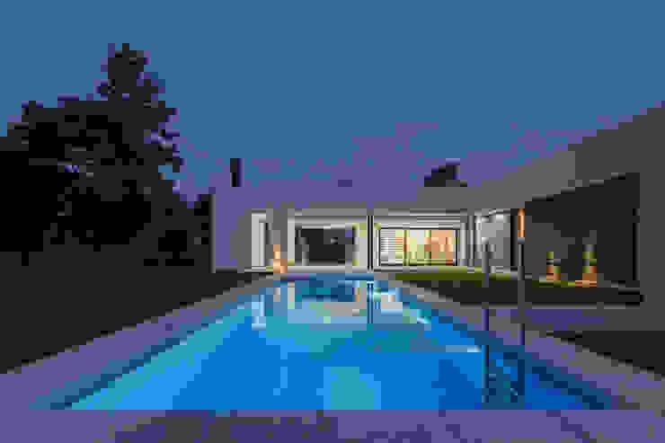 Casa CC - RESIDENCIA DE FIN DE SEMANA Piletas modernas: Ideas, imágenes y decoración de D'ODORICO arquitectura Moderno