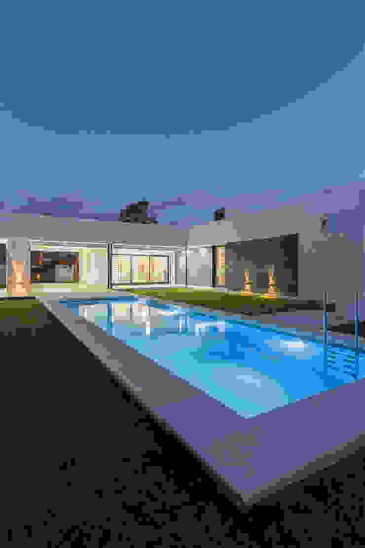 Casa CC – RESIDENCIA DE FIN DE SEMANA Piletas modernas: Ideas, imágenes y decoración de D'ODORICO arquitectura Moderno