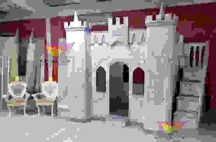 Precioso castillo Angelical de camas y literas infantiles kids world Clásico Derivados de madera Transparente