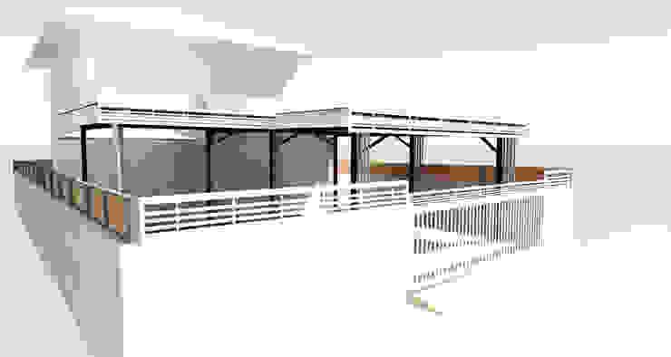 โรงจอดรถ โดย ออกแบบ เขียนแบบ ก่อสร้าง โมเดิร์น