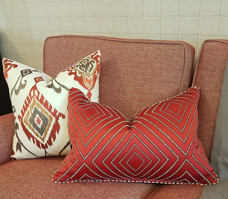 Red… ..the colour of Love Modern living room by Sophistique Interiors Modern