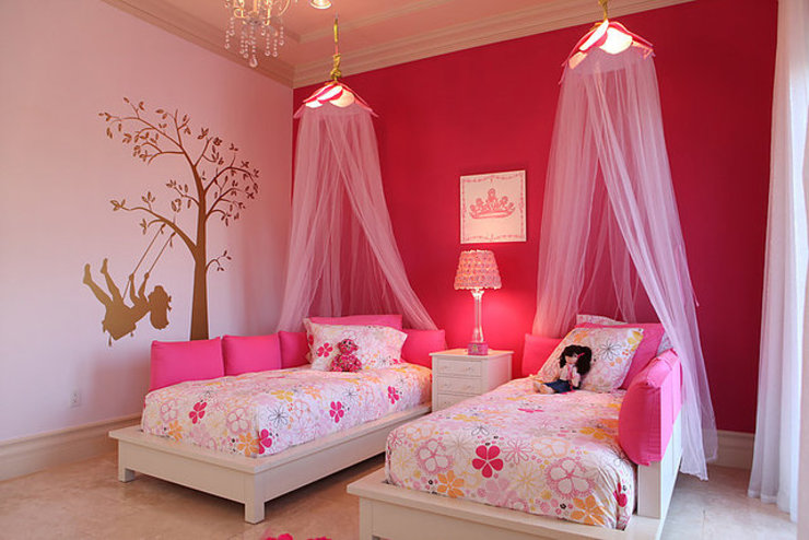 Girls Bedroom by Claudia Luján, Modern