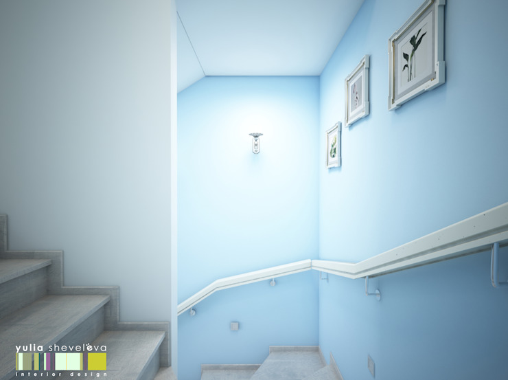 Classic style corridor, hallway and stairs by Мастерская интерьера Юлии Шевелевой Classic