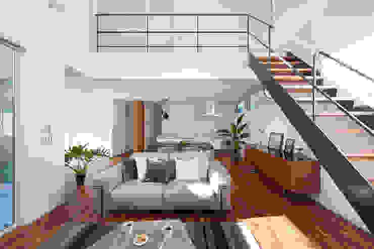 Livings de estilo moderno de タイコーアーキテクト Moderno