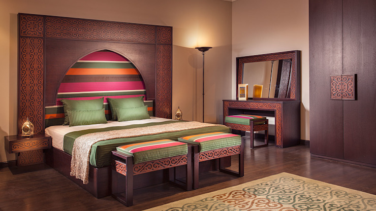 غرفة نوم مراكش: حديث  تنفيذ Pinocchio, حداثي خشب Wood effect