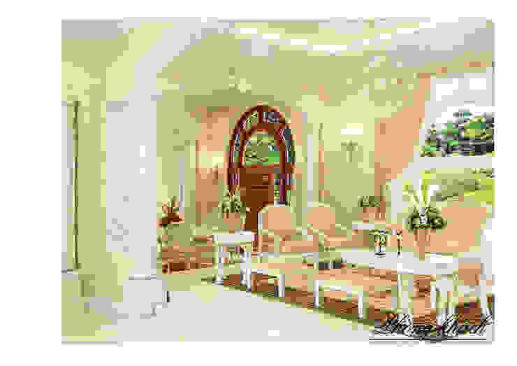 Modern Living Room by Công ty Kiến trúc Á Âu Modern