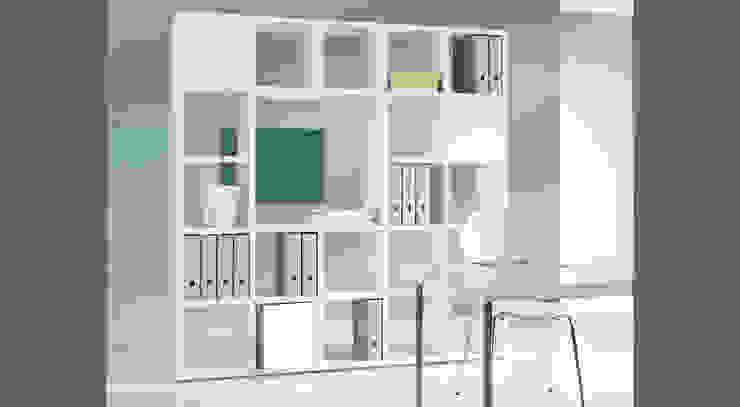 BOON - Cube Storage Units Regalraum UK Modern study/office White