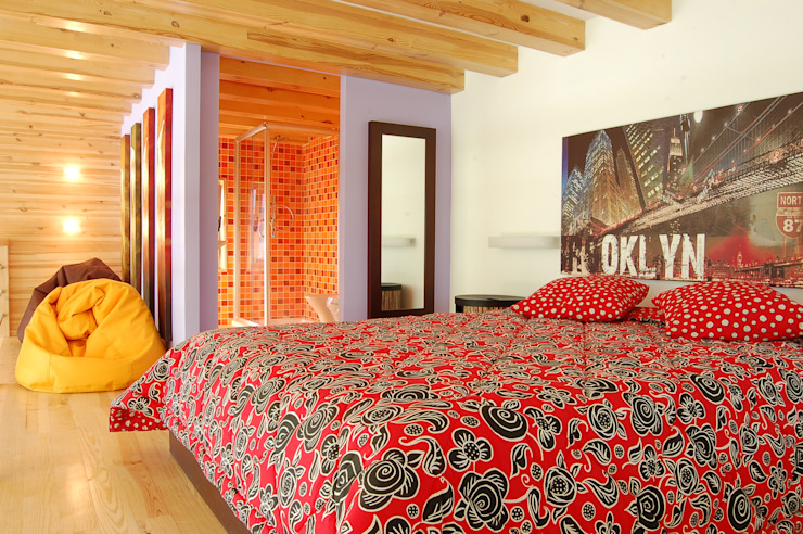 Moderne Schlafzimmer von Rusticasa Modern Holz Holznachbildung