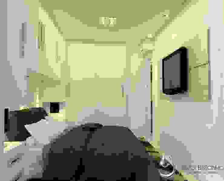 Projeto de interiores Lívio Bissonho Arquitetura Quartos modernos