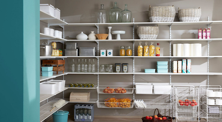 P-SLOT—Wall Shelving System Regalraum UK كراج يتسع لسيارتين