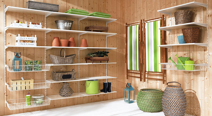 P-SLOT—Wall Shelving System Regalraum UK Double Garage