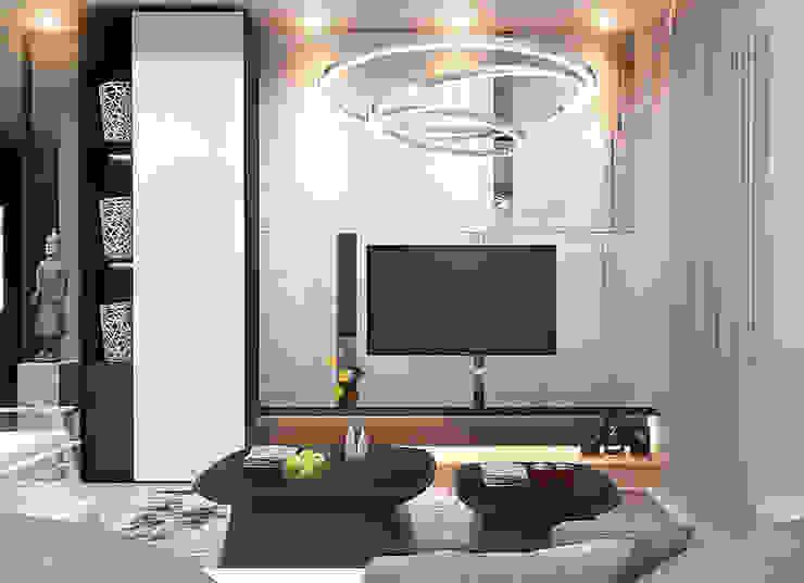 Bintaro House Ruang Keluarga Minimalis Oleh Vicasso Interior Minimalis