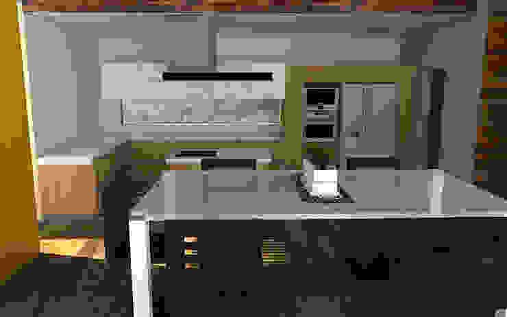 Proyecto Casa MV Cocinas de estilo moderno de Qarquitectura Moderno