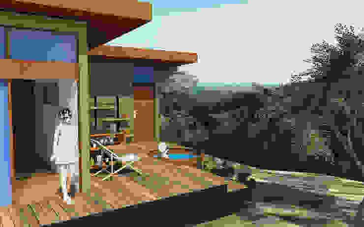Proyecto Casa MV Casas estilo moderno: ideas, arquitectura e imágenes de Qarquitectura Moderno