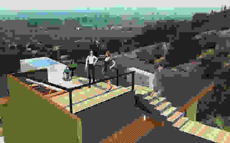 Proyecto Casa MV Balcones y terrazas modernos de Qarquitectura Moderno
