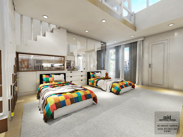 Kid's Bedroom Interior Design Kelapa Gading - Mediterania Oleh Multiline Design Modern