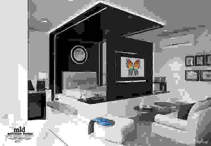 Master Bedroom Semarang - Bukit Wahid Regency Multiline Design Kamar Tidur Minimalis White