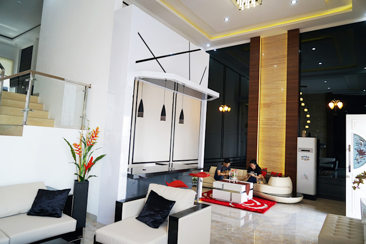 Living Room – Semarang Ruang Keluarga Minimalis Oleh Multiline Design Minimalis