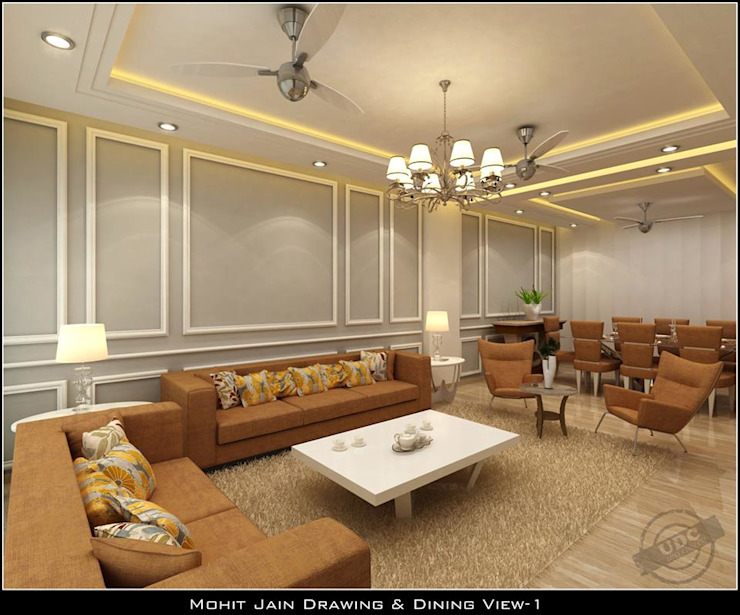 Residential Interior Asian style corridor, hallway & stairs by UDC Interiors Asian