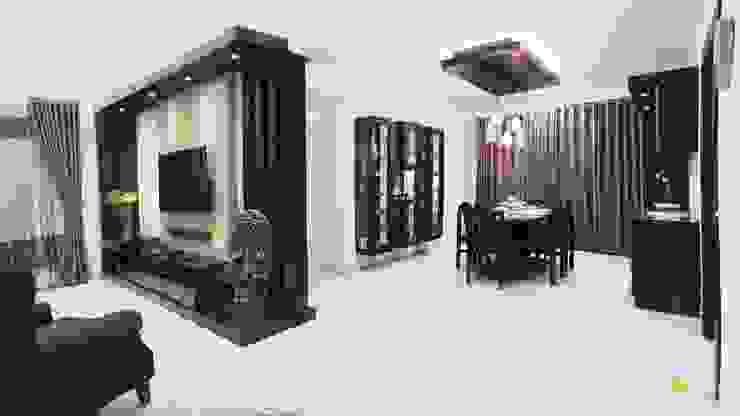 Living tv unit: modern  by Interiors by ranjani,Modern