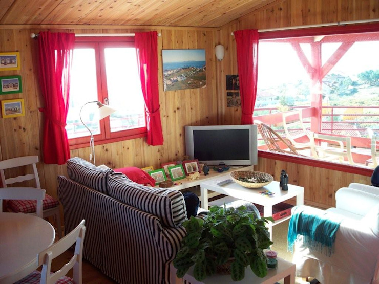 RUSTICASA Rustic style living room Wood Wood effect