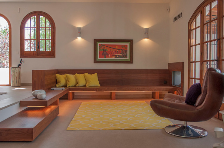Living room 现代客厅設計點子、靈感 & 圖片 根據 Rardo - Architects 現代風