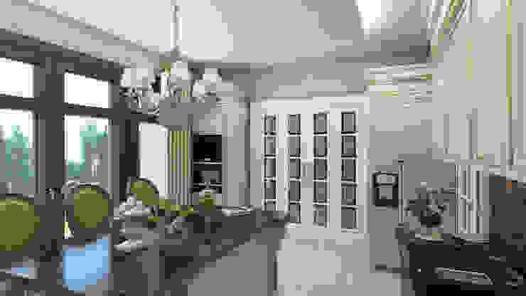 Коттедж в Комарово Кухня в стиле модерн от Spacelab Design Модерн