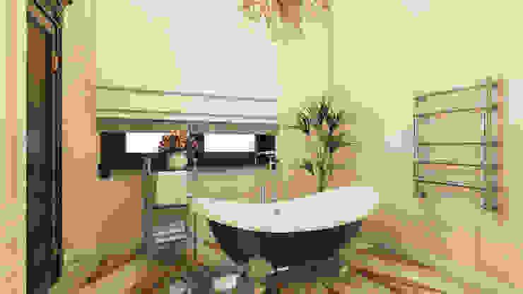 Коттедж в Комарово Ванная комната в стиле модерн от Spacelab Design Модерн
